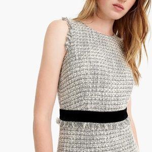J. Crew tweed white silver metallic dress size 16